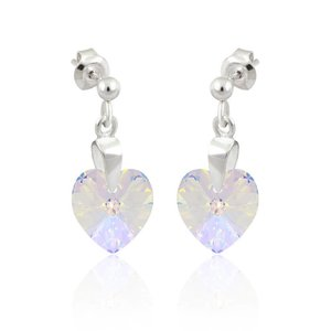 SWAROVSKI: Crystal Heart Earrings 'Pure Crystal' (22 mm)