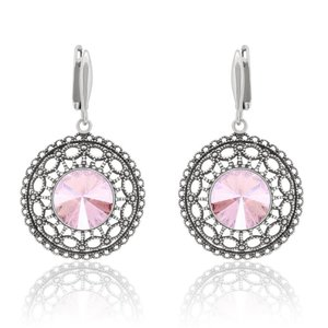SWAROVSKI: Crystal Circles Earrings 'Rose Moonshine' (46 mm)