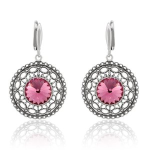 SWAROVSKI: Crystal Circles Earrings 'Rose' (46 mm)