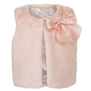 Aurora Royal: Faux-fur Gilet with Bow (3-5 jr)