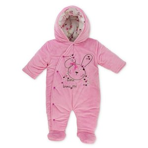 PITTER PATTER Snowsuit Bunny & Flowers (0-9 mnd)
