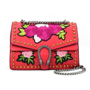 Red Floral Cross Body Bag