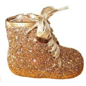 Tia London:  Gold Glitter Boots (0-3 jaar)