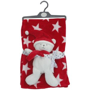 Pitter Patter: Christmas Blanket & Toy (75x75 cm)