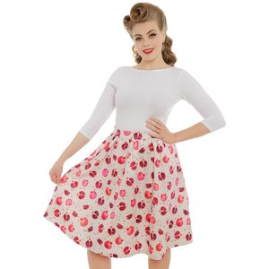LINDY BOP - 'PRYIA' Pomegranate Swing Skirt