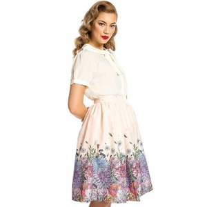 Lindy Bop: 'Pryia' Whimsical Floral Skirt