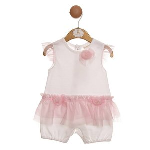 MINTINI BABY -  Zomer Romper 'TULE & FLOWERS'