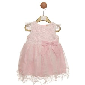 Mintini Baby: Dress 'Lace & Bow' (12-24 mnd)
