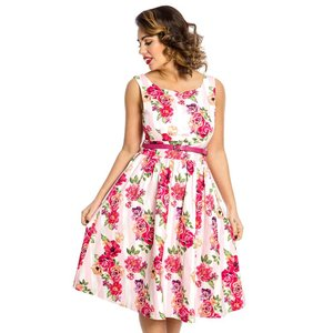 LINDY BOP -  'DELTA' Pink Floral Bouquet Dress