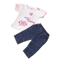 Baby C: Outfit 'Teddy & Butterfly' WHITE (0-9 mnd)
