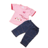 Baby C: Outfit 'Teddy & Butterfly' PINK  (0-9 mnd)