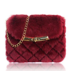 QUILTED FLUFFY CROSSBODY BAG