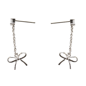 Collectif: DELICATE BOW DROP EARRINGS