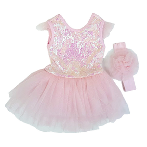 VISARA Tutu Bodysuit Dress (6-24 mnd)