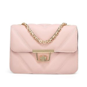 SOLANA QUILTED CROSSBODY BAG PINK