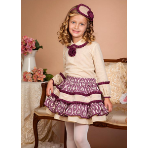 BEA CADILLAC: AMATISTA GIRL SET WITH BLOUSE AND SKIRT