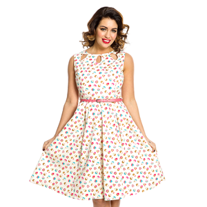 LINDY BOP -  'LILY' Cream Cupcake Dress