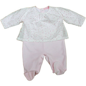 BELLA BAMBINI Velours Baby Outfit (0-9 mnd)