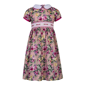 "AURORA ROYAL: "" SUMMER BEAUTY"" FLORAL SMOCKED DRESS"