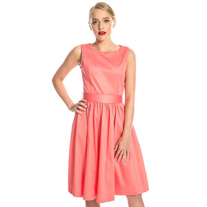 LINDY BOP -  'AUDREY' Coral Swing Dress