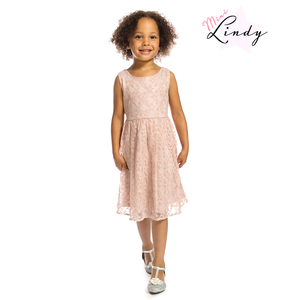LINDY BOP - 'MINI AUDREY' Children's Pink Star Dress