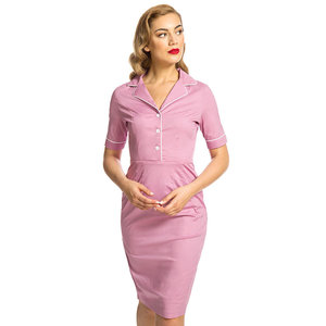 LINDY BOP -  'AVIANA' Dusky Pink Pencil Dress