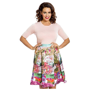LINDY BOP -  'MARIE' Turquoise Riviera Swing Skirt