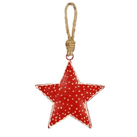 Red Nordic Metal Star, 10 cm