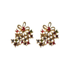 COLLECTIF - Earstuds 'FLORAL DIAMANTE'