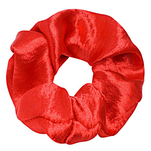 Soft Satin Scrunchie Red