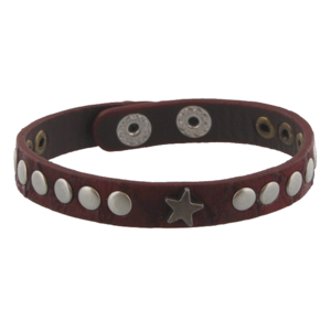 Bracelet with star and studs