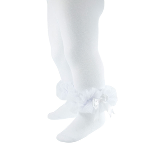 SOFT TOUCH Baby Tights with tutu and bow