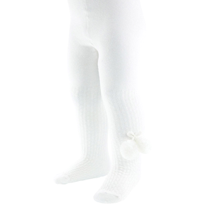 SOFT TOUCH - TIghts with Pompoms  'WHITE'