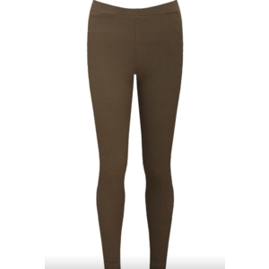 JERSEY RIBBED LEGGINGS - Khaki