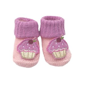Knitted Cotton Bootees