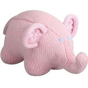 Zubels Organic Knitted Elephant  Rattle