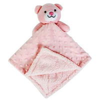 First Steps Bubble Fleece Comforter with Bear