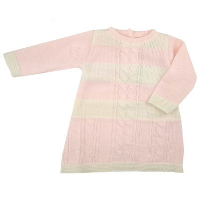 Angel Kids Knitted Dress with cables