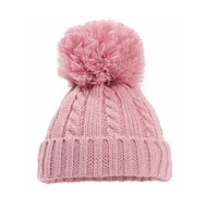 Soft Touch Knitted Hat with  Pompom