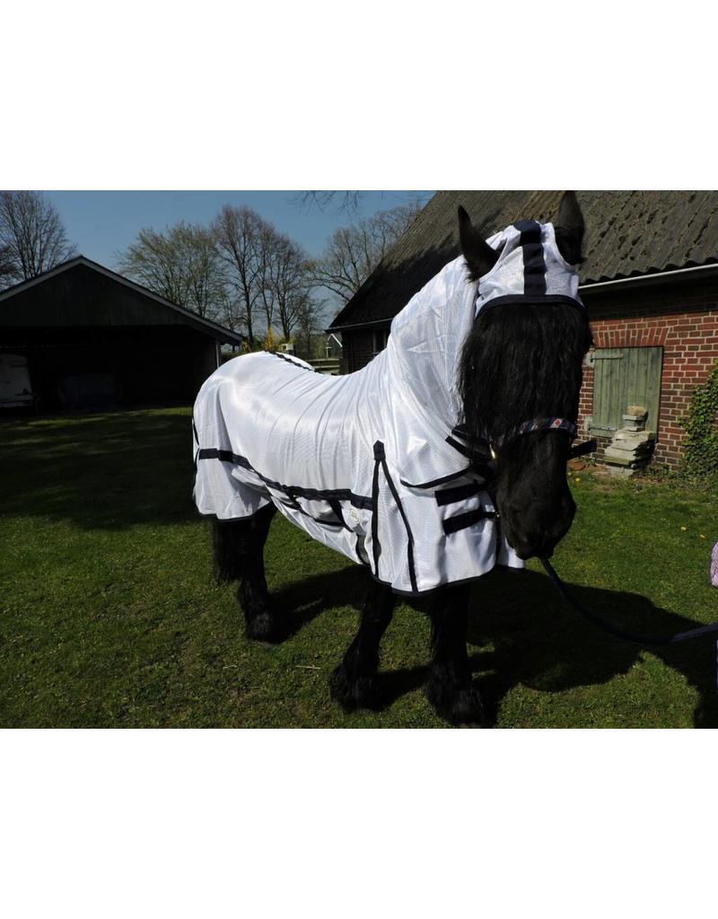 LuBa Horseblankets® Fly rug Anti Fly COMBO/fixed fullneck - Friesian (Baroque)
