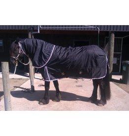 LuBa Horseblankets® FRIESIAN | BAROQUE EXTREME Turnout 1680D® Rainblanket 0gr - COMBO detachable Neck