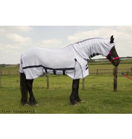 LuBa Horseblankets® Fly rug Anti Fly COMBO/fixed fullneck - Friesian (Baroque)