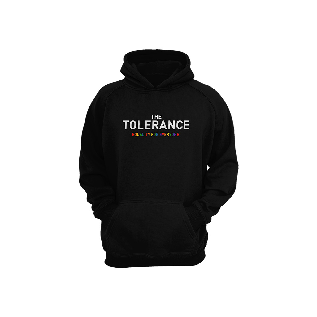 THE TOLERANCE Rainbow Hoodie (schwarz)
