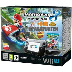 Nintendo Wii U Premium Pack 32GB (Zwart) + Mario Kart 8 +500 Spaarpunten !