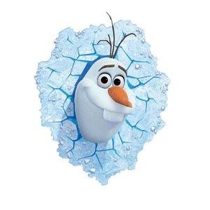 3D Frozen Olaf | Deze vrolijke Olaf komt dwars door de muur in elke kamer!