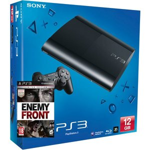 PlayStation 3 Console ULTRA Slim + Enemy Front + 12GB