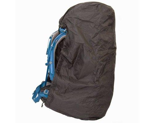 Lowland Raincover/flightbag zwart