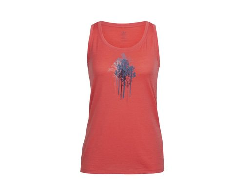 Icebreaker Tech Lite Tank Through The Trees women