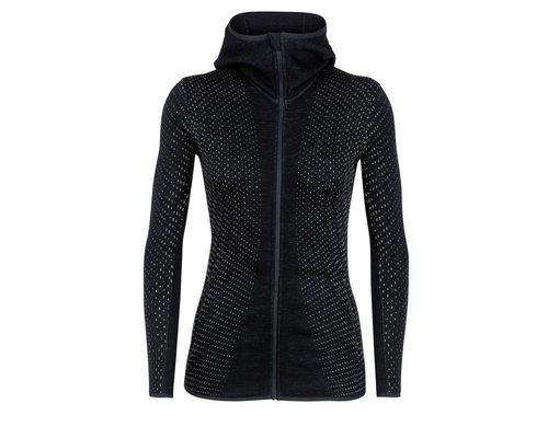 Icebreaker Elemental LS Zip Hood Crystal women