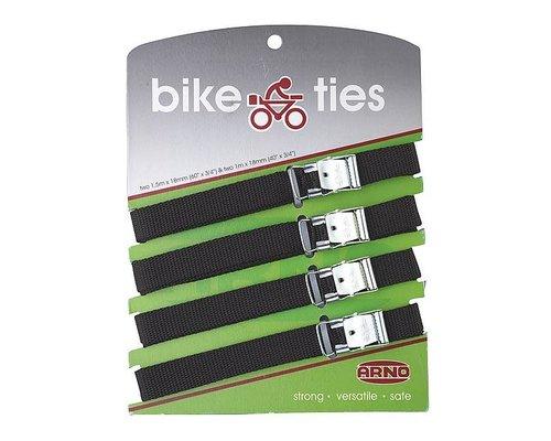 Bagageriemen, Bike ties, 4 stuks